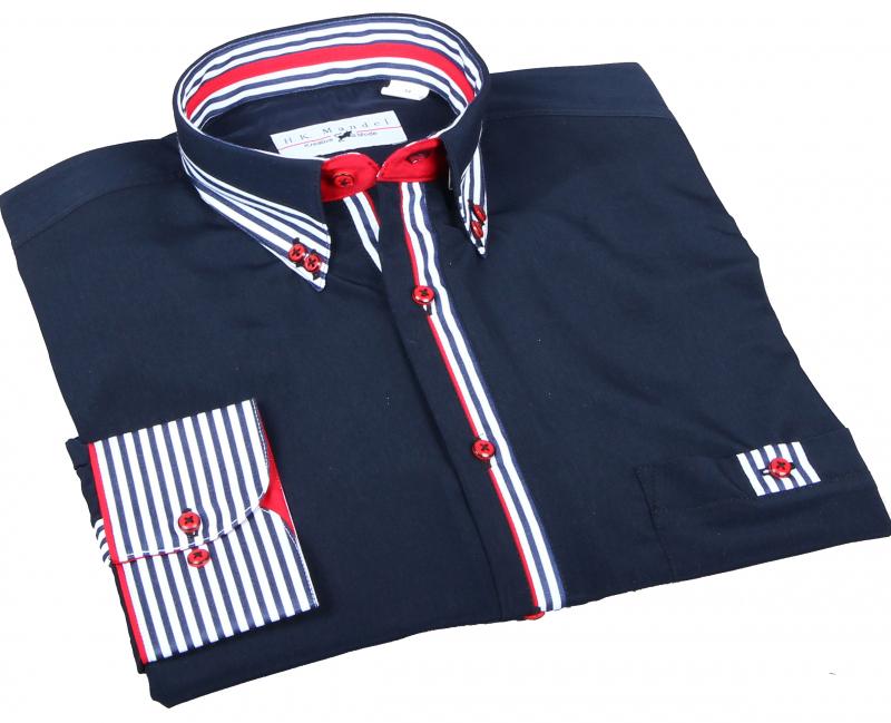 Ausgefallenes Hemd in Marineblau