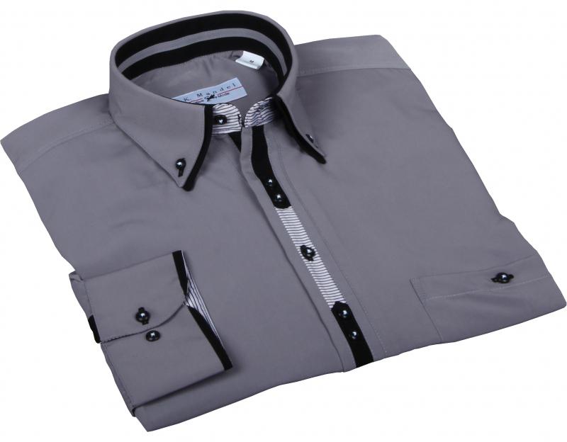 Herren Designer Hemd in Grau