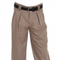 Preview: Bundfaltenhose in beige meliert