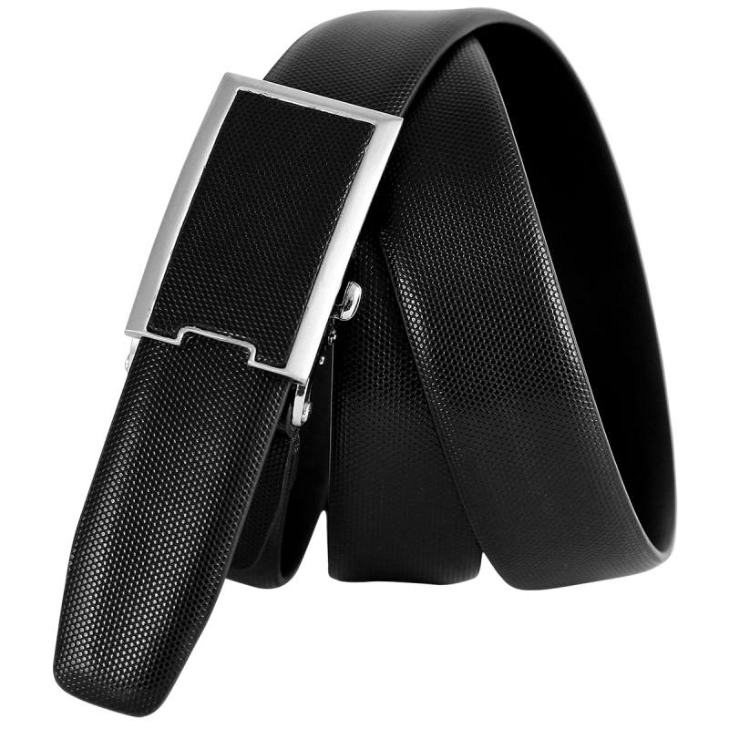Leather belt AUTOMATIC clasp infinitely adjustable