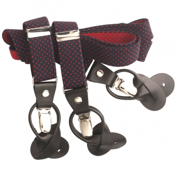 Suspenders in marine red