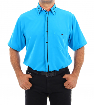 Cyan Luxury Designer Shirt