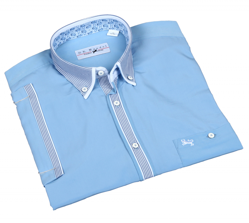 Microfiber Men's Shirt in Light Blue