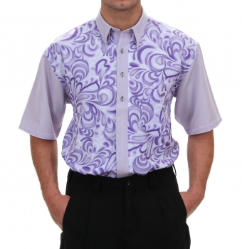 Short Sleeve Shirt in Purple/patterned