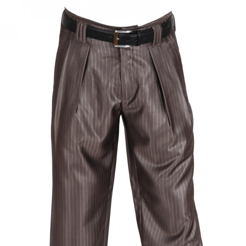H.K. Mandel Kreative Mode für Männer - bundfaltenhose schlamm braun ... b71c5c1ecb