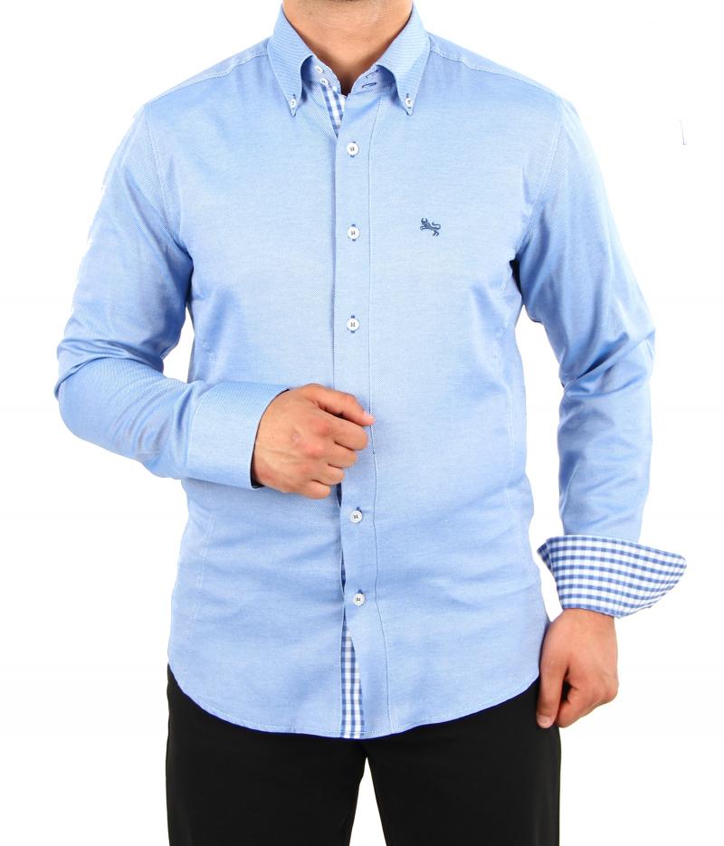 H.K. Mandel Kreative Mode für Männer - Business-Casual-Hemd ... 29355be9af