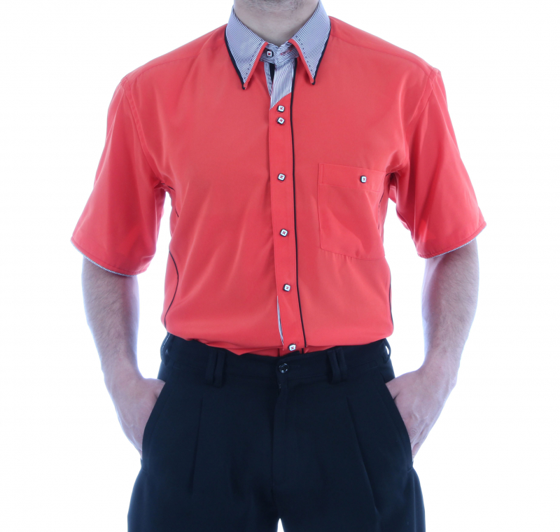 Besonderes Herren Hemd in Orange