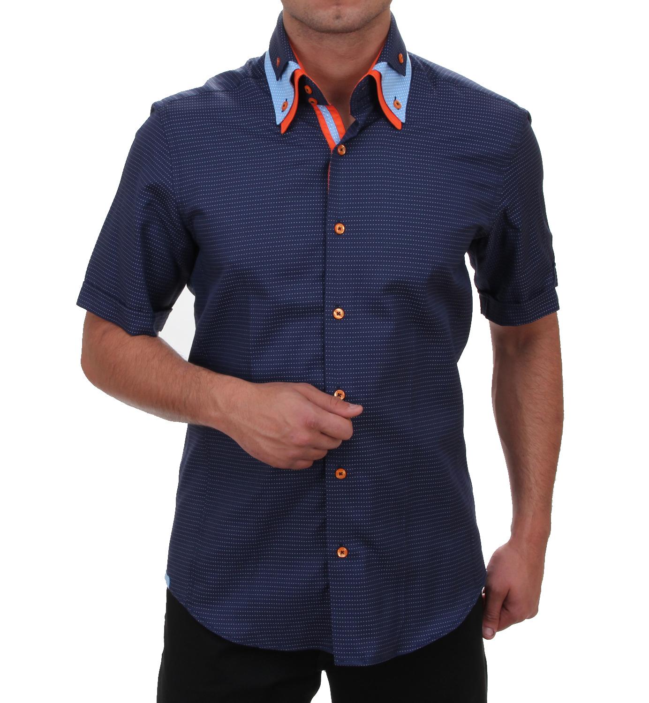 Short Sleeve Designer Shirts | H K Mandel Kreative Mode Fur Manner Slim Fit Short Sleeved Shirt