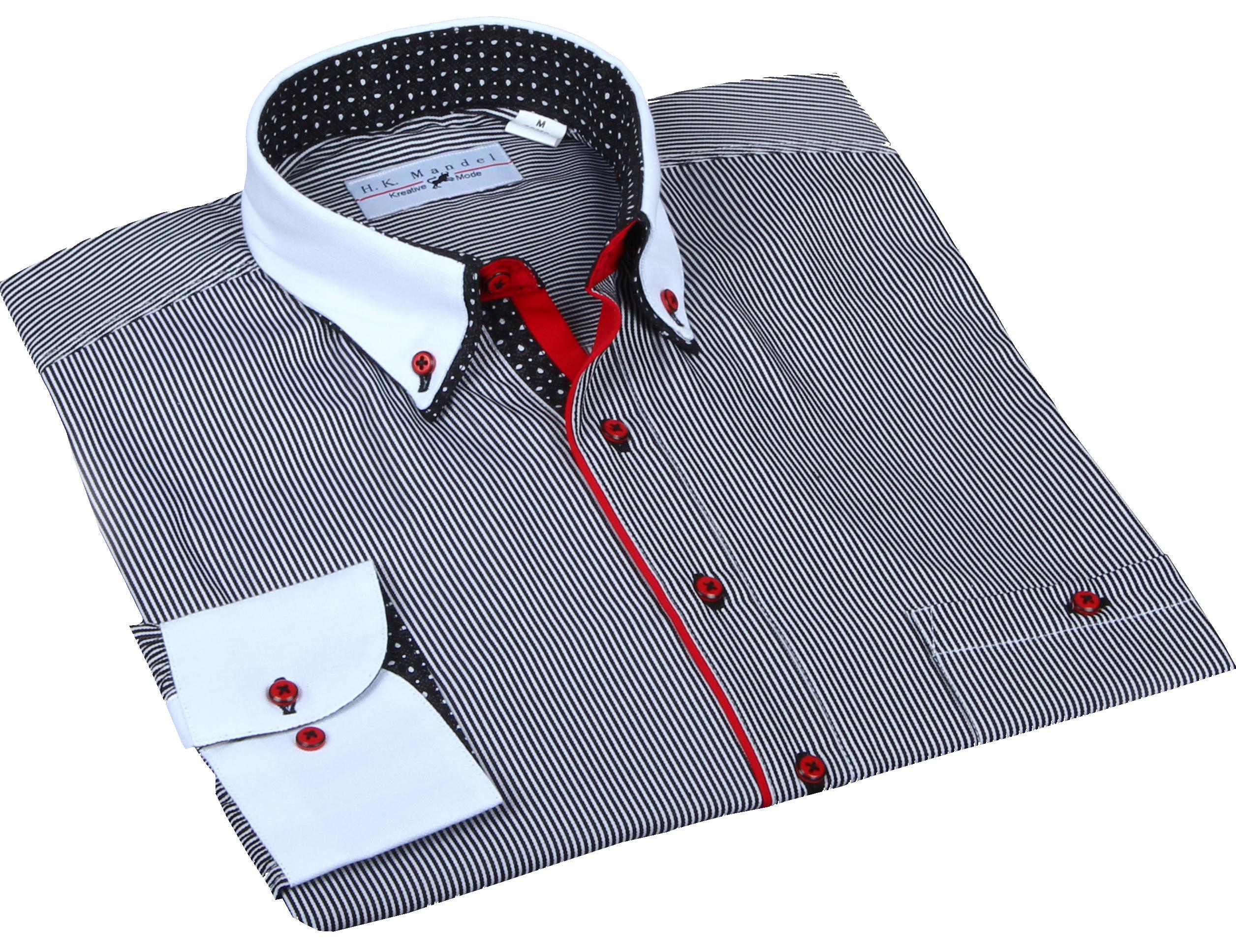 2ee68b3026c6 H.K. Mandel Kreative Mode für Männer - doppelkragen hemd ...