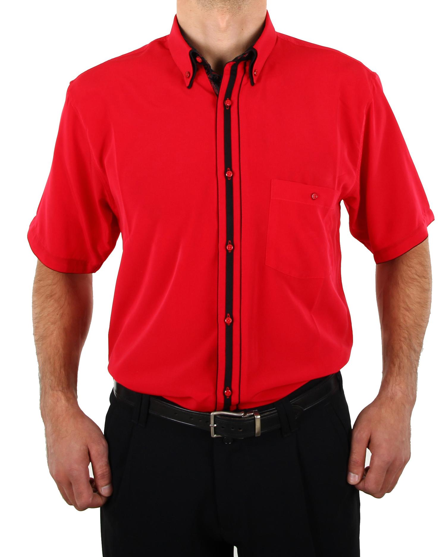 Hk Mandel Kreative Mode Fr Mnner Designer Shirt Red Short Sleeve In