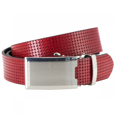Raster belt in red