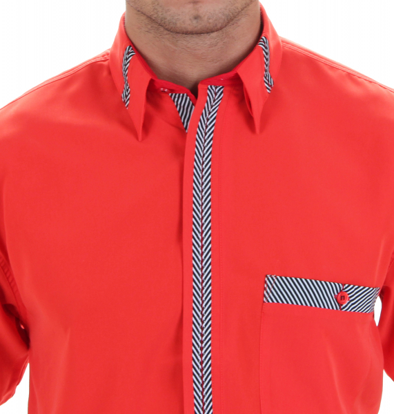Designer Herren Hemd in orange