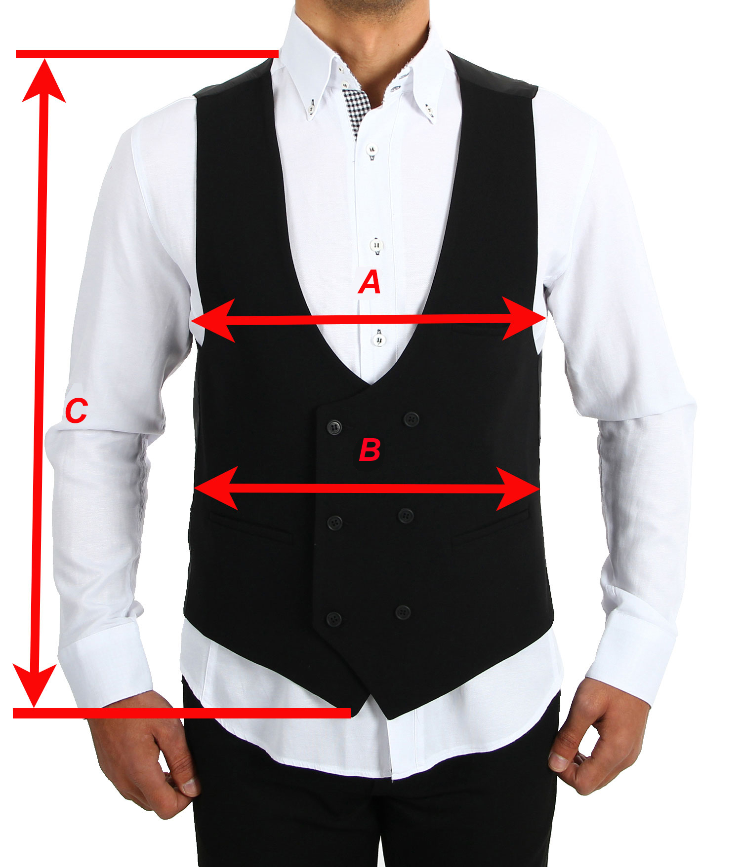 Herren Anzug Weste Anzugsweste Schwarz//Wei/ß gestreifte Zweireiher Weste Vintage Stil von HK Mandel